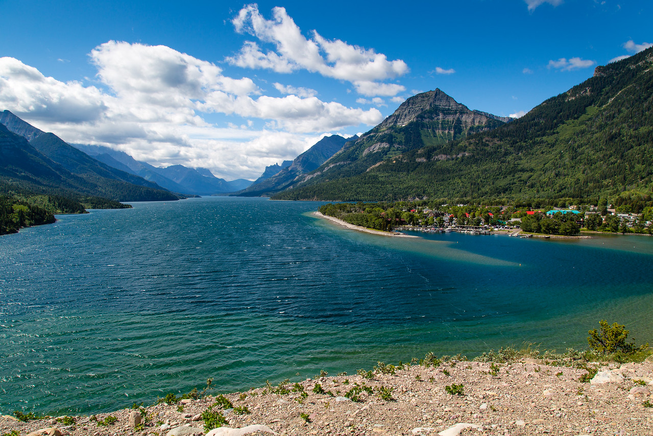 View of Waterton Lake from Prince of Wales Hotel