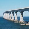 Confederation Bridge from New Brunswick to Prince Edward Island. Spans the Abegweit Passage of Northumberland Strait.