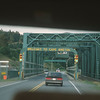 Entering Cape Breton Island through drawbridge over the Canso Canal.