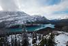 September Snow, Peyto Lake, Banff National Park, Alberta, Canada, North America