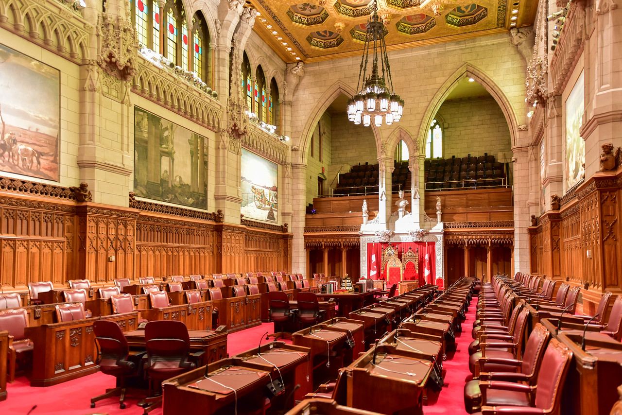 The Senate of Parliament Building - Ottawa, Canada