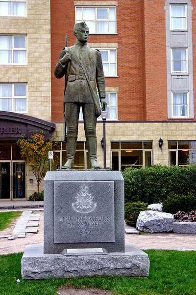 Soldier's Monument in Quebec City, Canada.