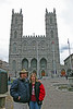 Here's the happy couple in front of the Basilica De Notre Dame in Montreal.  What an amazing structure.