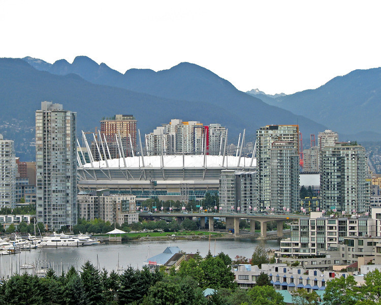 BC Place sports arena in downtown Vancouver, BC.