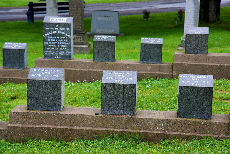 Titanic graves are numbered in the order of when the bodies were recovered.<br /> Halifax, Nova Scotia<br /> Copyright 2009, Tom Farmer