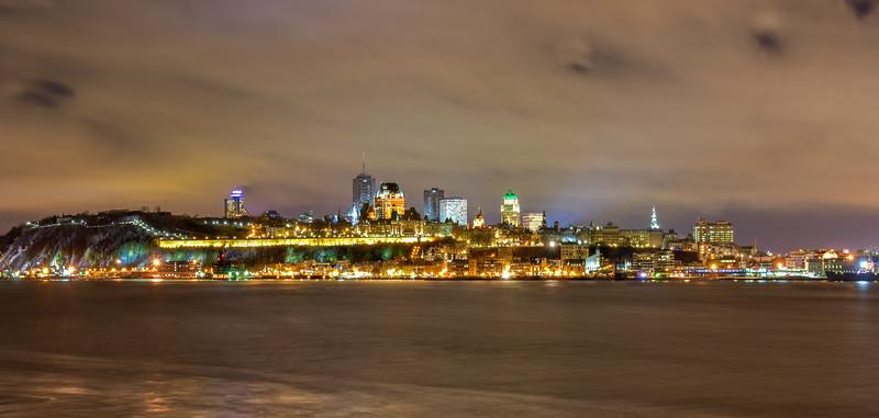 Quebec City Panorama at Night