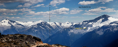 Whistler pano BC Can mountain snow 4198