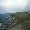 Cape Breton's Cabot Trail road runs along cliffs on Northumberland Strait.
