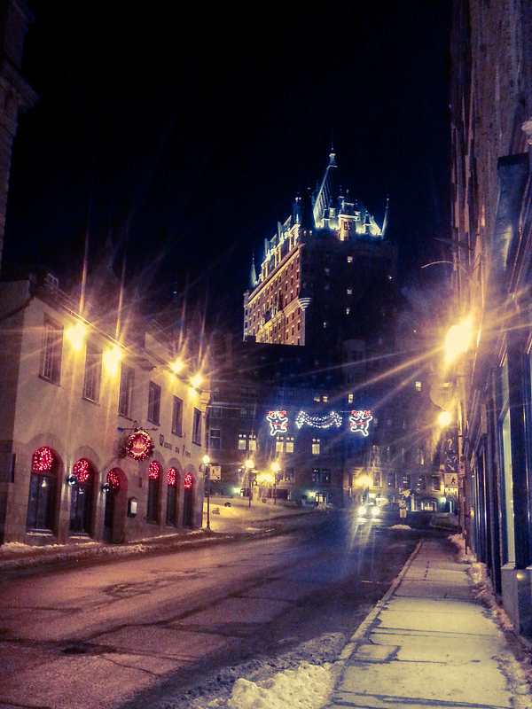 Old Quebec at night