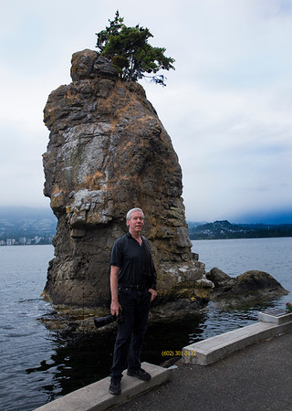 David Duane in front of rock Stanley Park BC Canada