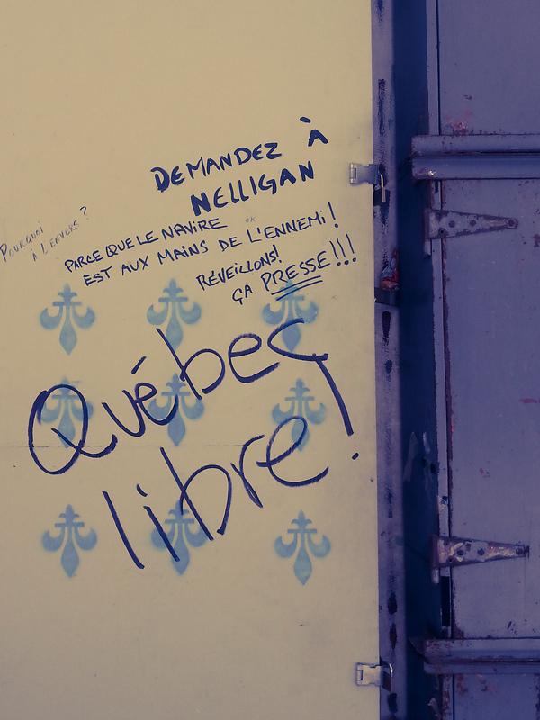 Quebec separatist Graffiti