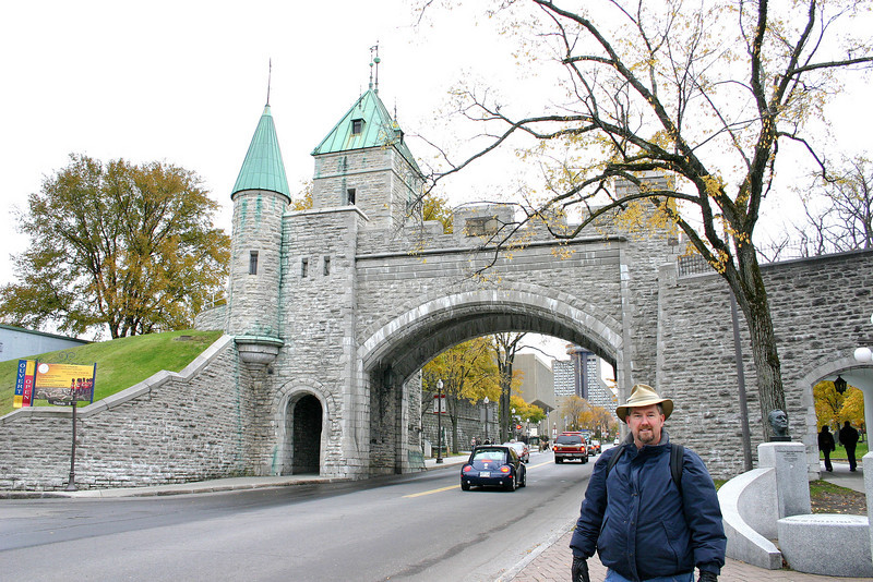 Old city wall in Quebec City, Canada