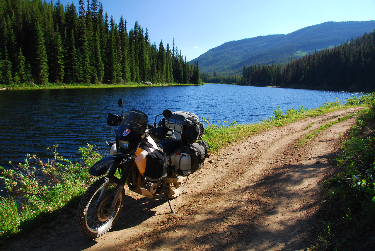 Mud Lake,  Carpenter Lake - Riske Creek 'Tech Route' (Ride BC Backroads)