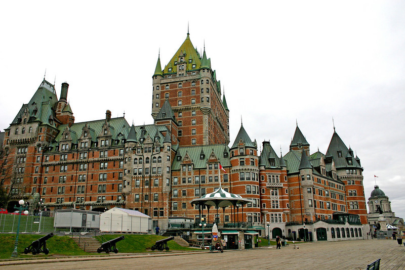 The Hotel Frontenac in Quebec City, Canada.  This is one of the most photographed buildings in the world.