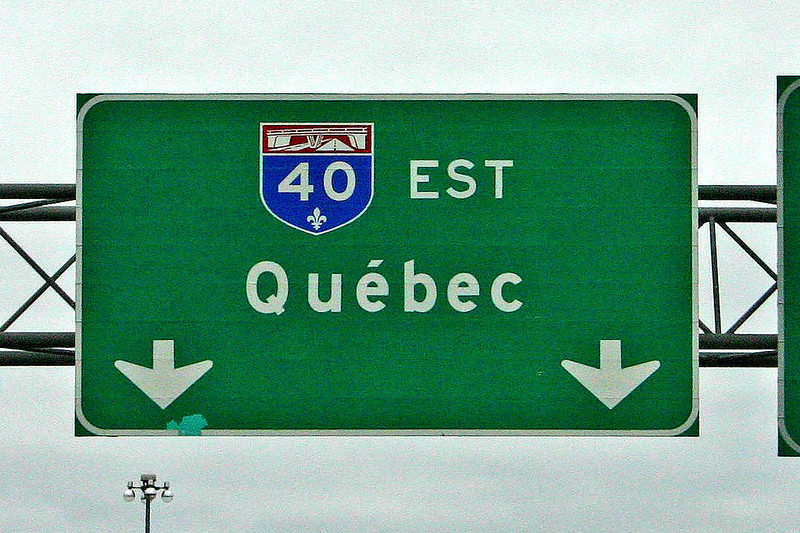 Highway 40 East to Quebec City.