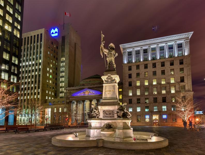 Maisonneuve Monument - Place d'Armes - Montreal