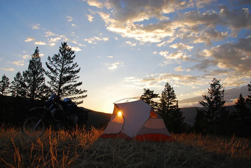 Bushcamp above Chilanko River, sth of Riske Creek,  BC.  GPS CA0002