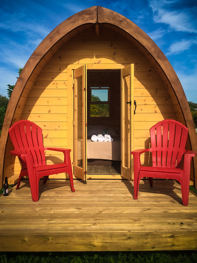 Glamping pods at Long Point Eco Adventure, just two hours west of Toronto.