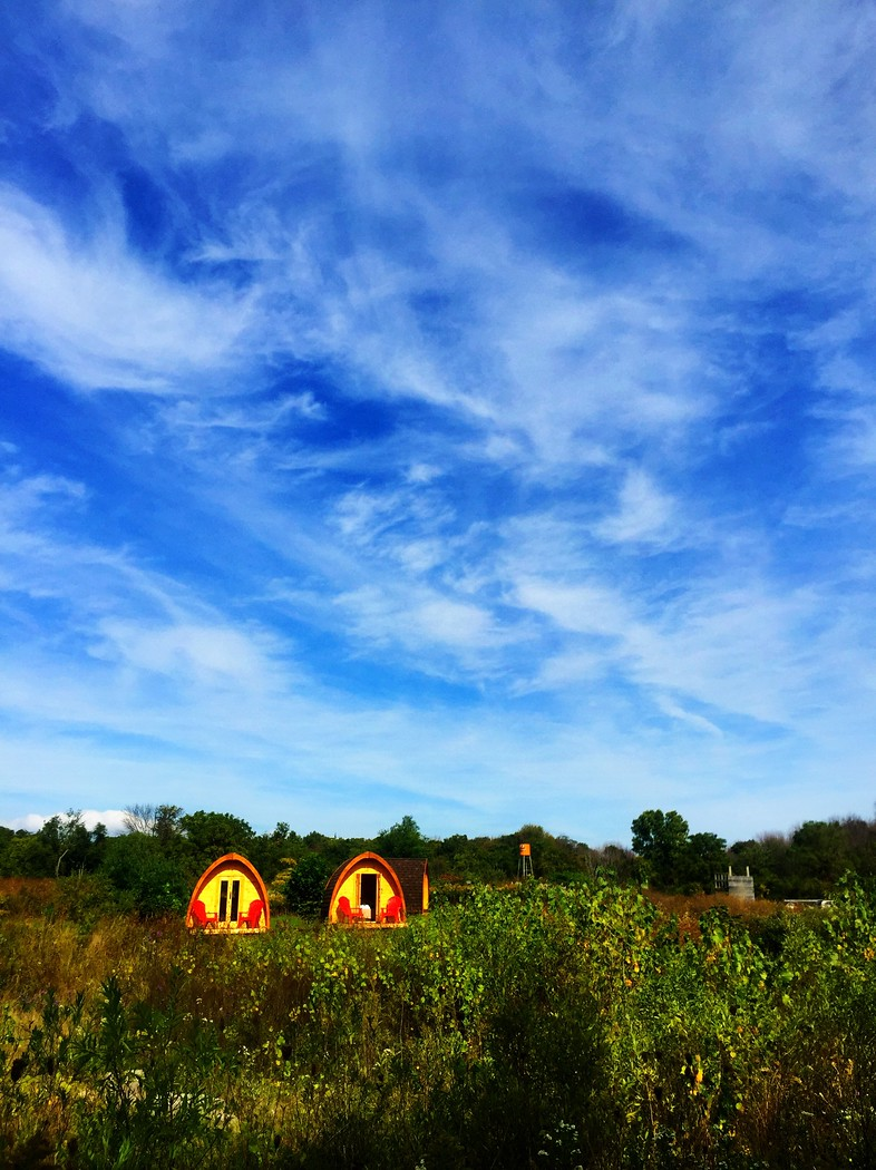 Glamping pods at Long Point Eco Adventure in Norfolk County just two hours west of Toronto.