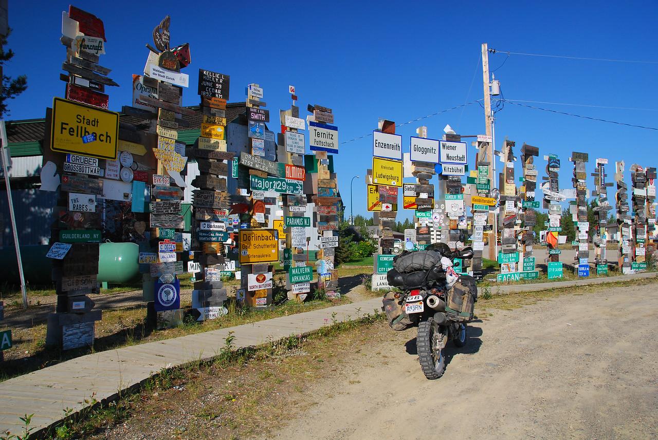 'Signpost forest',  Watson Lake,  Yukon (68,000+)