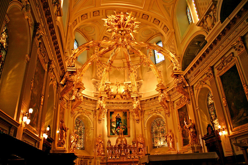 Inside church in Old Quebec City.