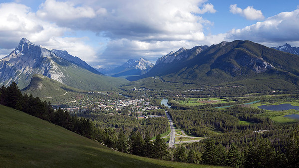 Banff.  3-shot pano.