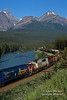 Train, Canadian Railroad, Bow River, Banff National Park, Alberta, Canada, North America