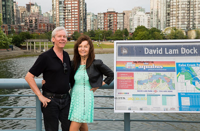 David & Patricia at David Lam Park, Vancouver  2143 07/2015