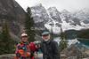 MR, Senior Couple, Minature Schanuzer, Dog, Moraine Lake, Banff National Park, Alberta, Canada, North America