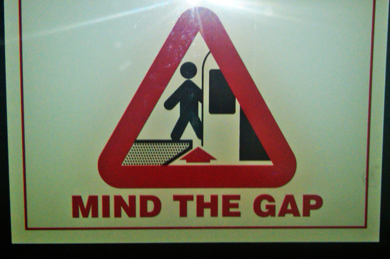 Mind the Gap. British influence on the Toronto, Canada subway.