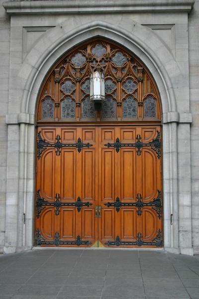 Door on the Basilica de Notre Dame.