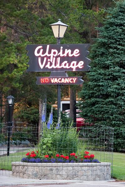 Alpine Village Sign