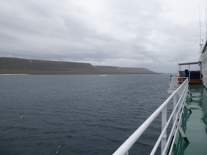 Looking at the west coast of Beechey Island.