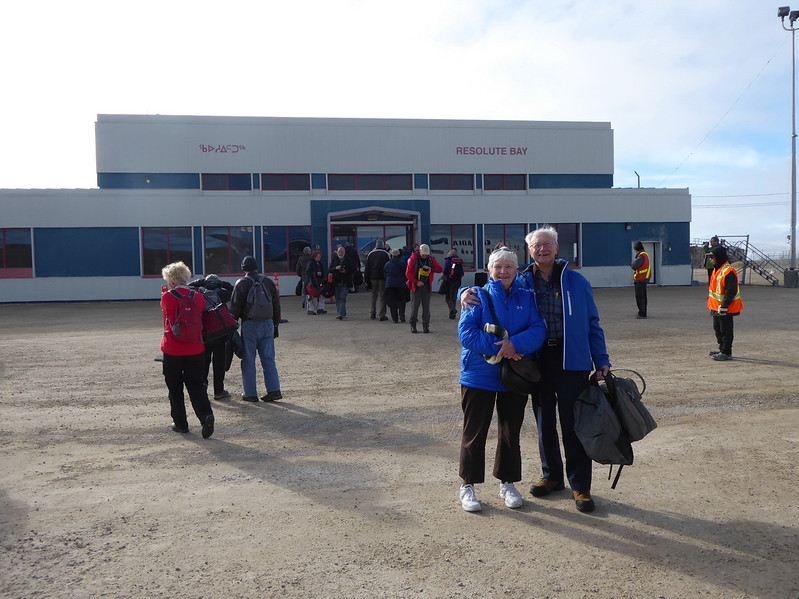 The terminal in Resolute Bay - tarmac? side. It's all gravel.