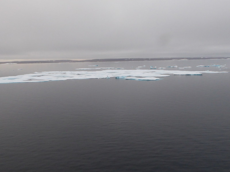 Ice floes in Barrow Strait of Lancaster Sound.