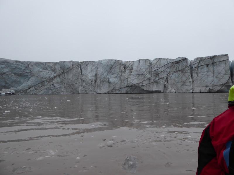 Glacier in the background.
