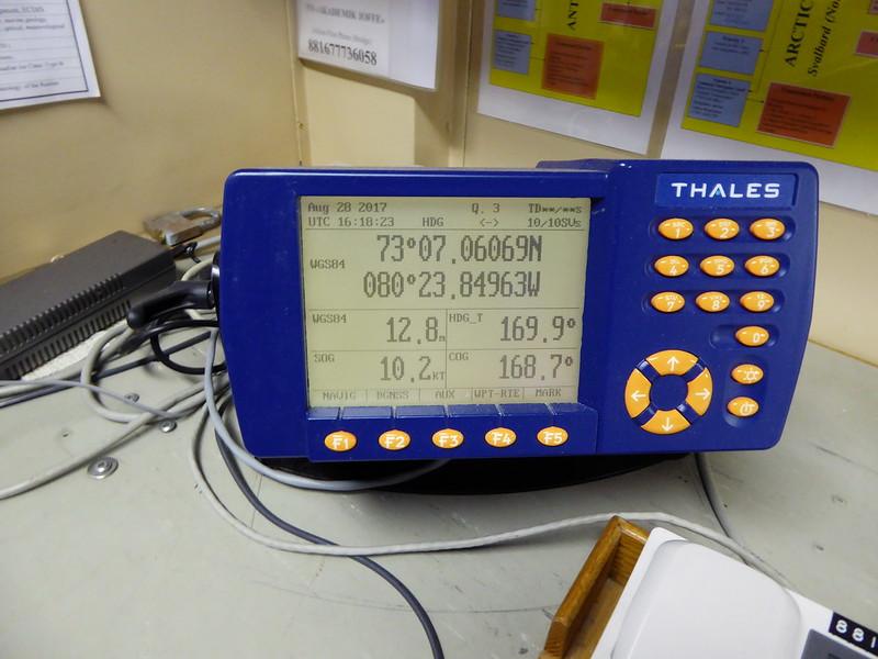 Instrumentation on the bridge.