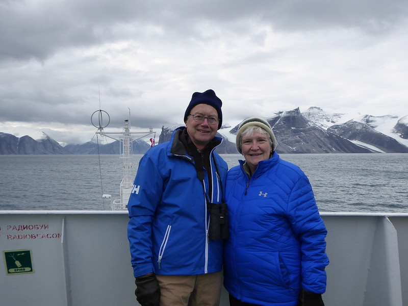 The two of us in Gibbs Fjord.