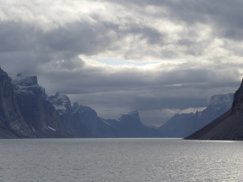 Gibbs Fjord with a bit of sun poking through.<br /> My favourite picture!