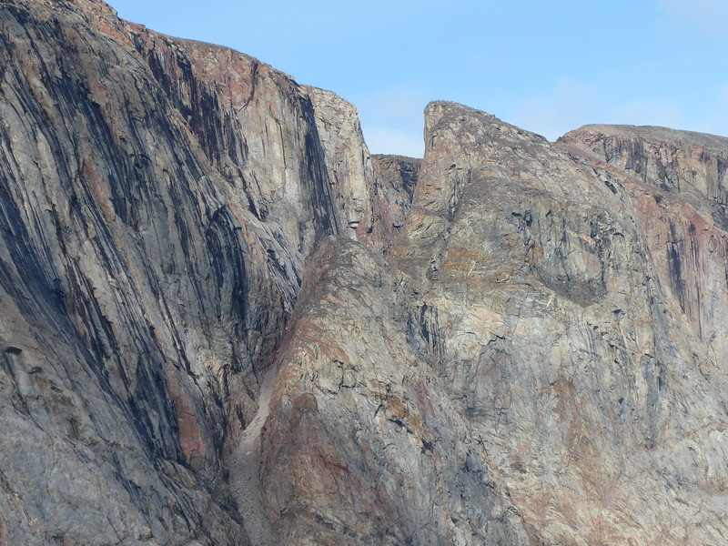 Gibbs Fjord - rock formations on the return trip.