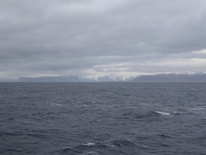 Approaching the entrance to Gibbs Fjord in Baffin Bay.