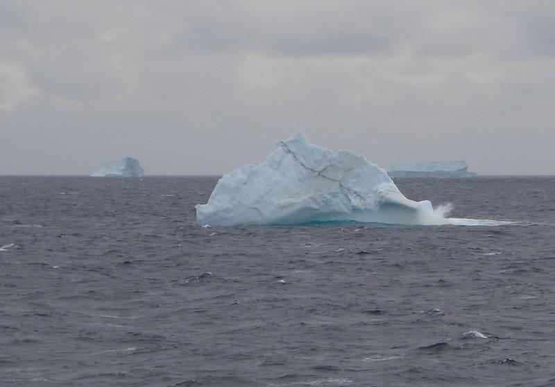 Icebergs in Baffin Bay.