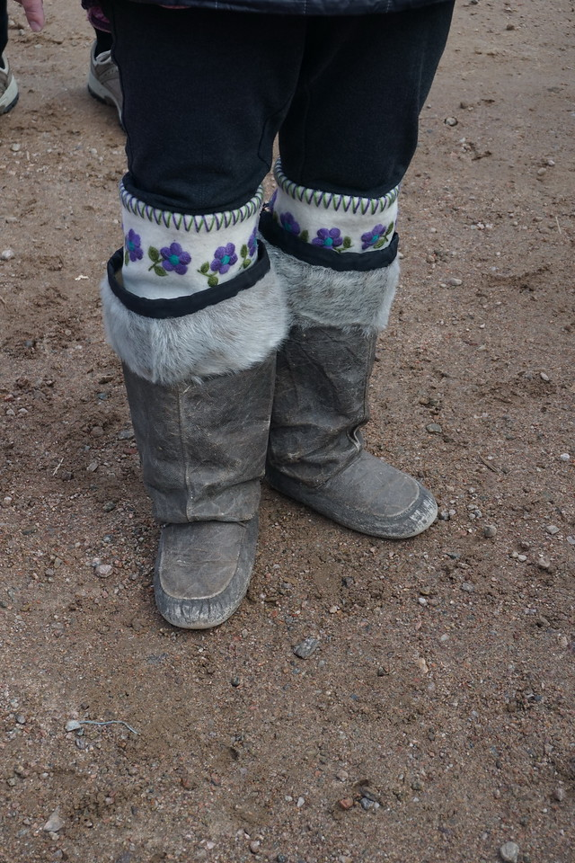 The sealskin boots with a handmade felt liner that our guide was wearing.<br /> (A borrowed picture)