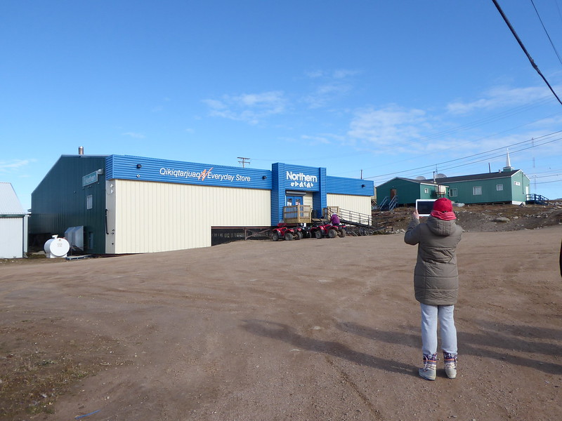 Northern Store (formerly Hudson's Bay Company) in Qikiqtarjuaq. We headed there to buy some cold meds.