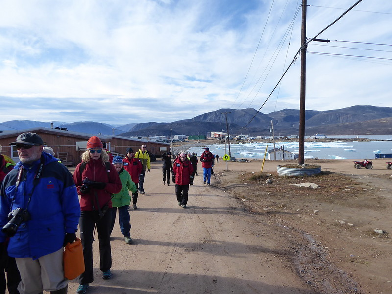 There were 90 of us. One large cruise ship in the Arctic carries 1500 passengers. Can you imagine the impact they have when they visit a small village like this?