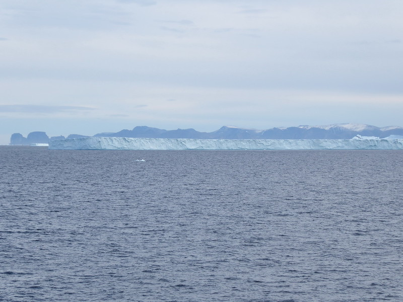Back in Baffin Bay - a tabular iceberg.