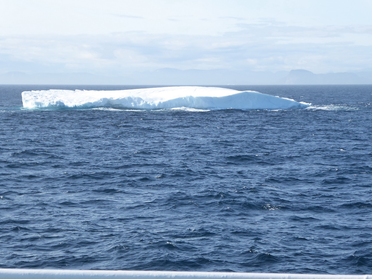 Back in Davis Strait of Baffin Bay - a tabular iceberg. There was quite a distance to travel to get to Monumental Island for the next day.