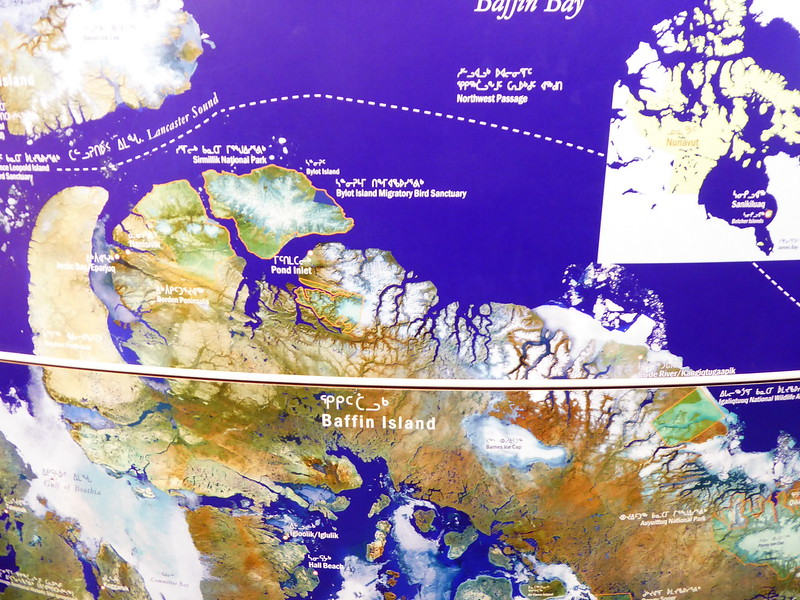 Map in Unikkaarvik Visitor Centre