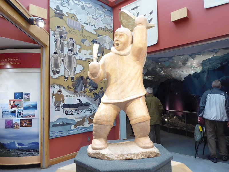 """Statue in Unikkaarvik Visitor Centre .<br /> Check out the video on this information site:<br /> <a href=""""http://www.city.iqaluit.nu.ca/visitors/explore-iqaluit"""">http://www.city.iqaluit.nu.ca/visitors/explore-iqaluit</a>"""