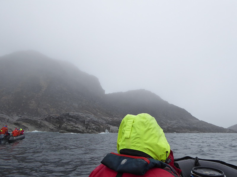 Bob was in the first Zodiac out as it approached an iceberg and Monumental Island.